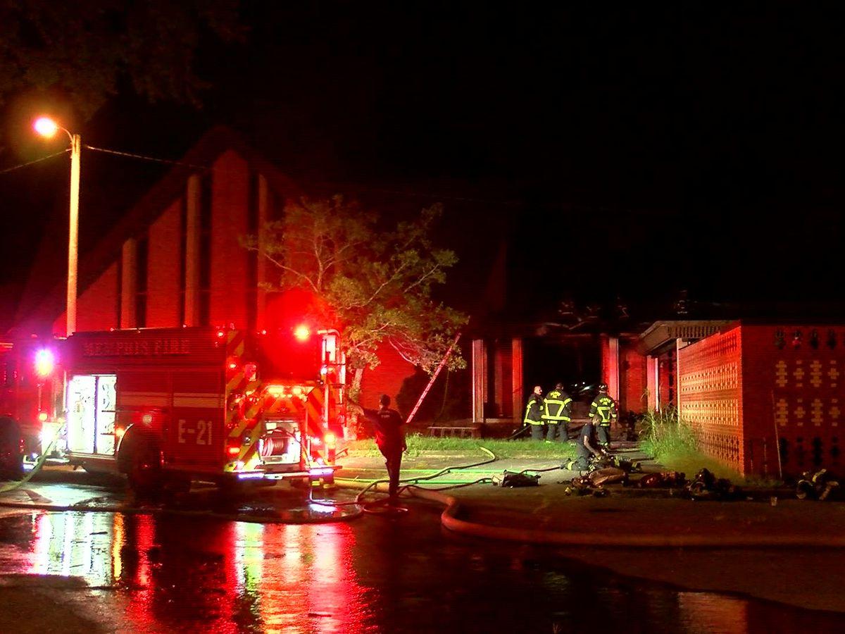 East Memphis church catches fire