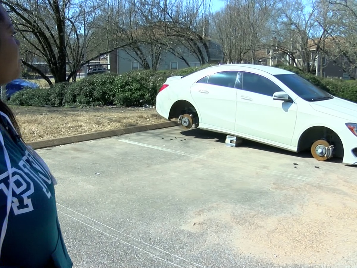 Woman demands changes at apartment complex after her tires were stolen off her car