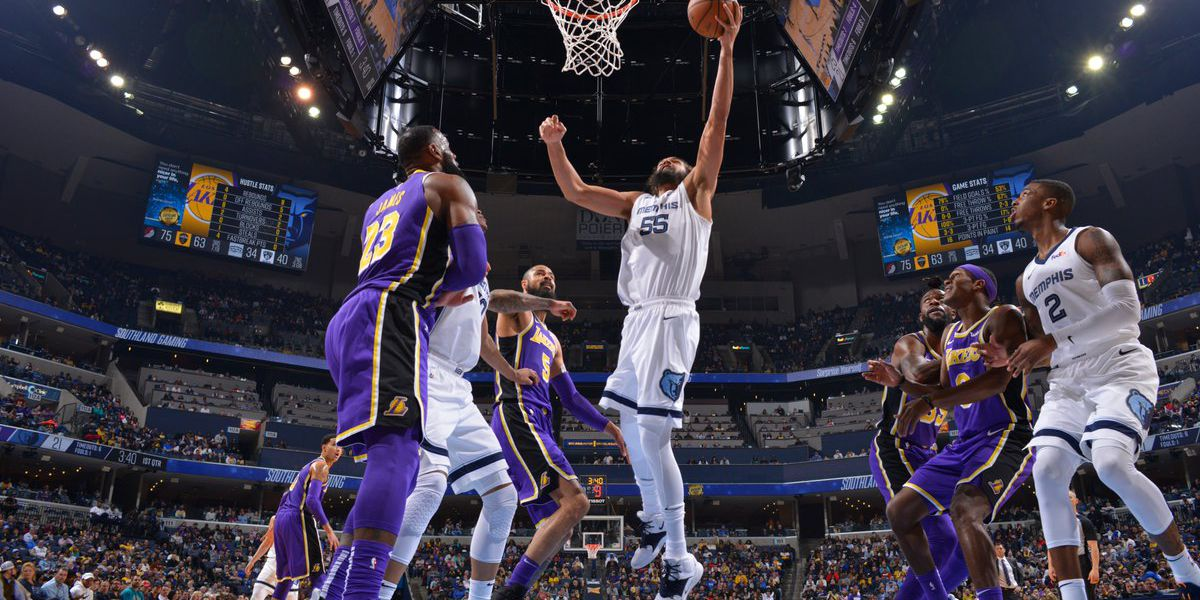 Grizzlies deliver blow to Lakers' playoff hopes with win at Grindhouse