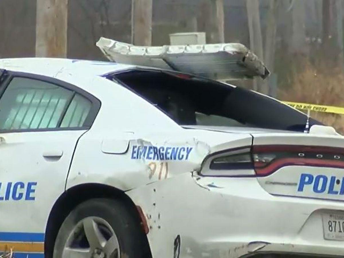 MPD officer injured after single-car crash on Mt. Moriah, police say