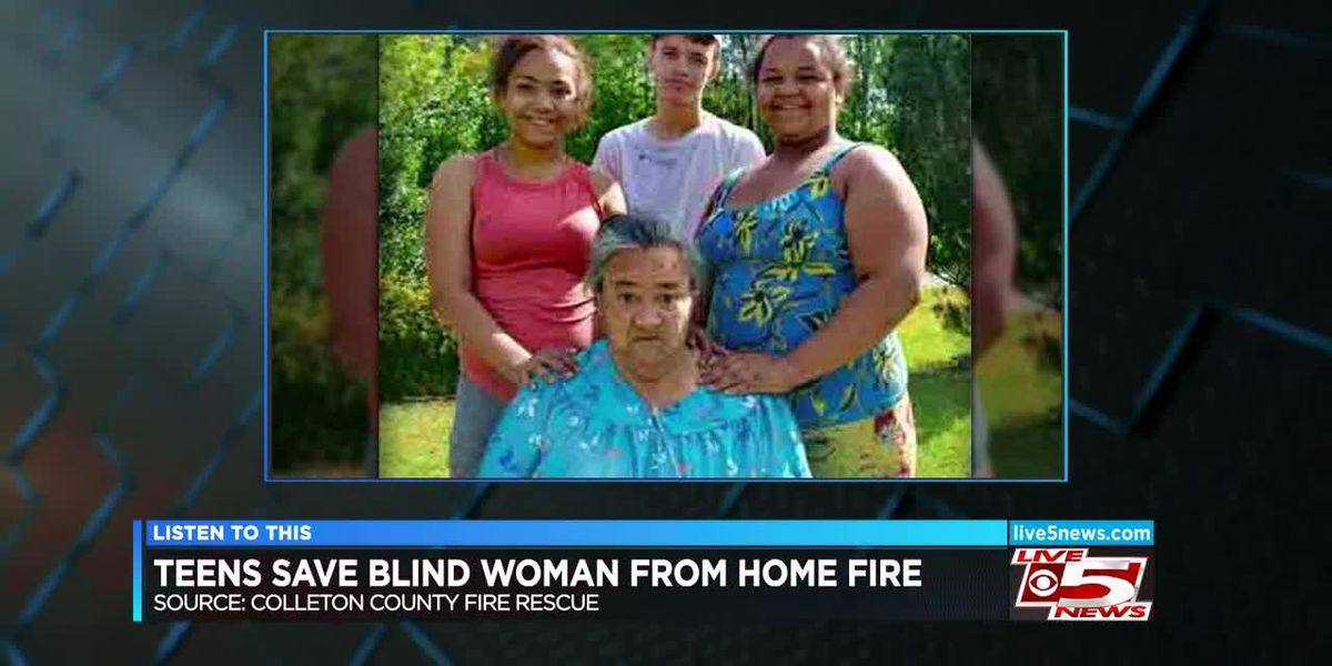 VIDEO: Teens save blind woman from SC mobile home fire, authorities say
