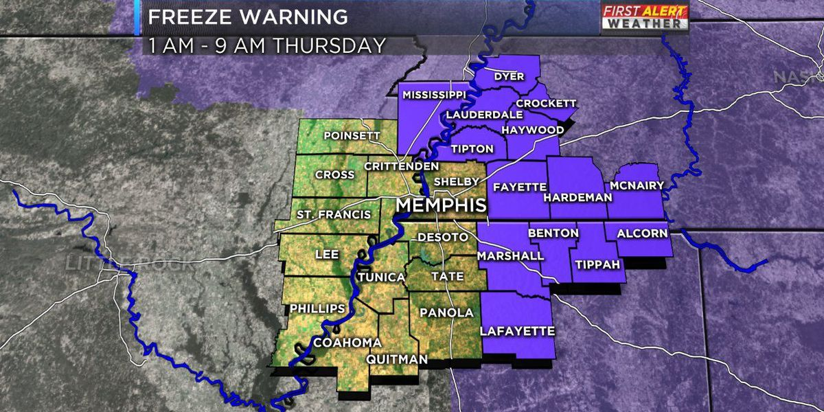 First Alert: Freeze warning, frost advisory in Mid-South