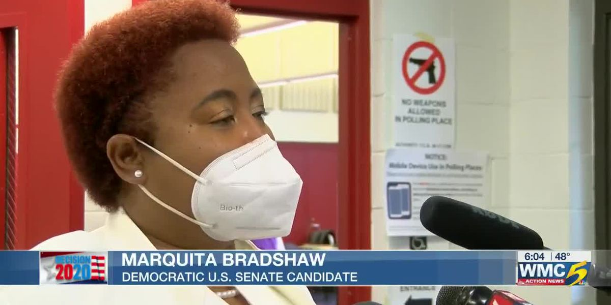 Democratic TN US Senate candidate Bradshaw votes in Memphis as early voting ends