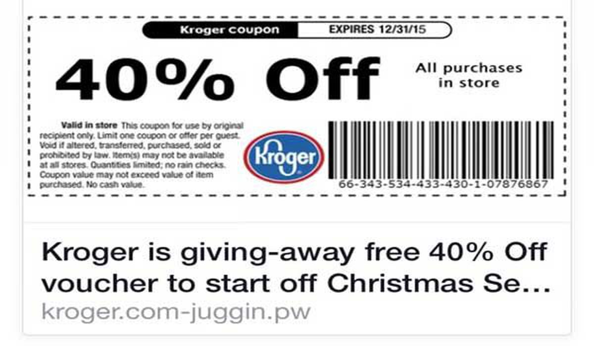 Too-good-to-be-true Kroger coupon is a fake
