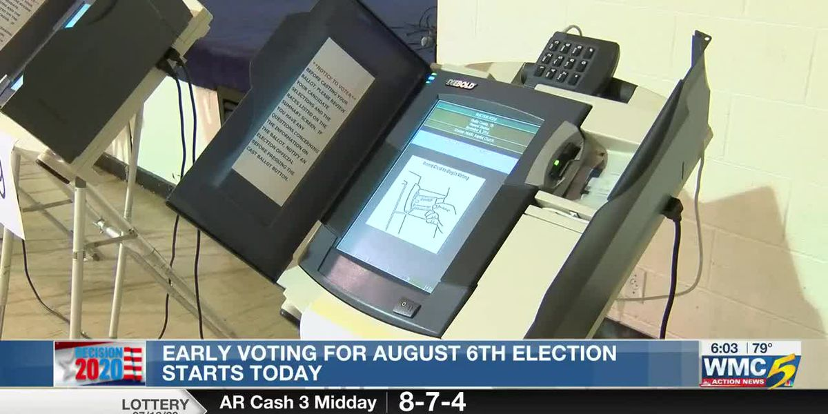 Early voting for August 6th election starts today