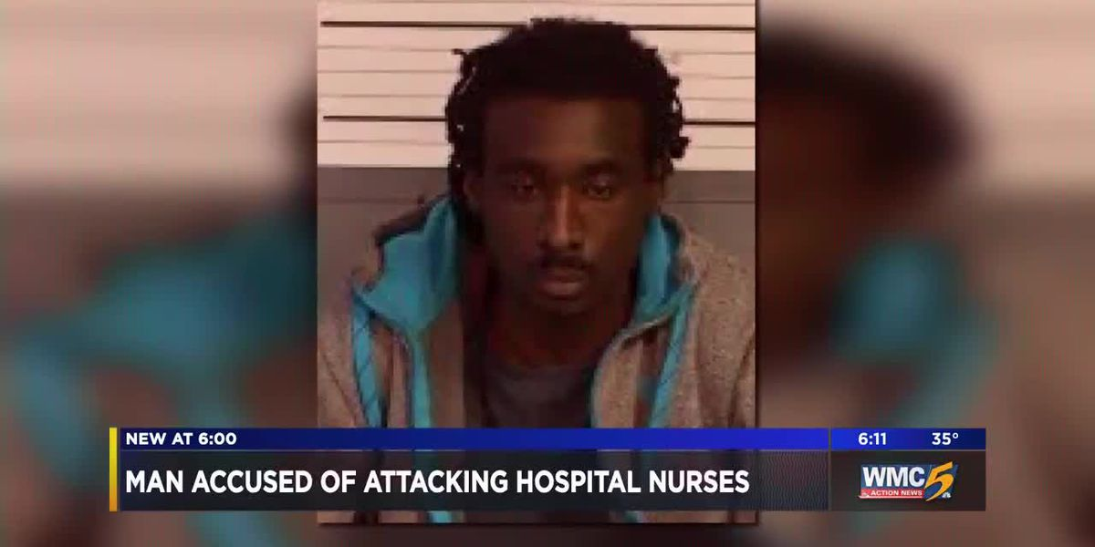 Man accused of attacking hospital nurses