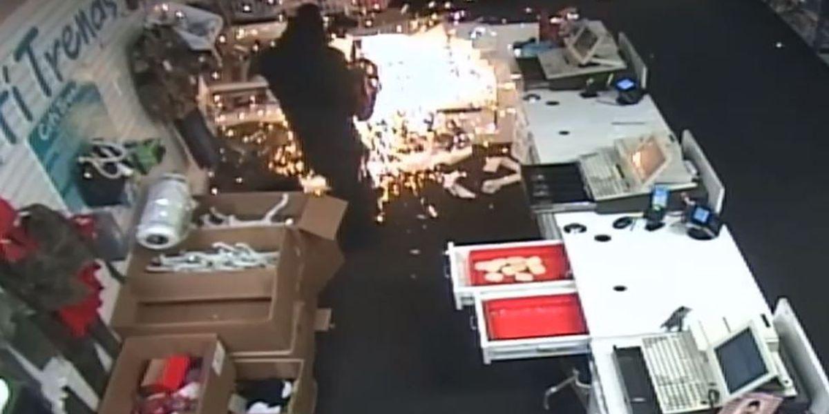 Burglars use power tools to crack open safe