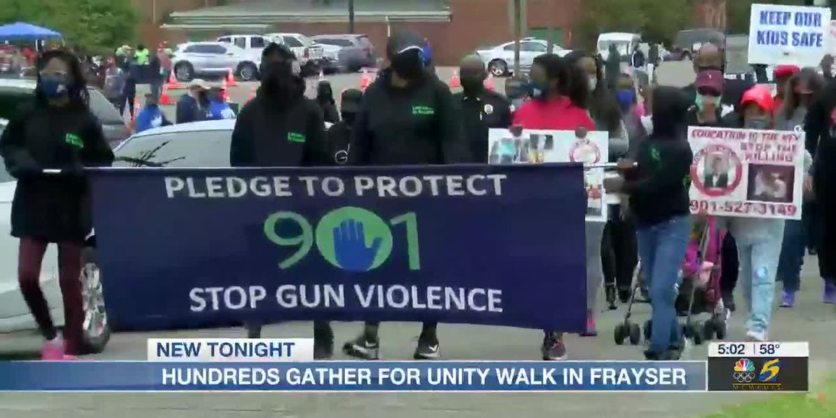 Hundreds unite to walk against gun violence in Frayser