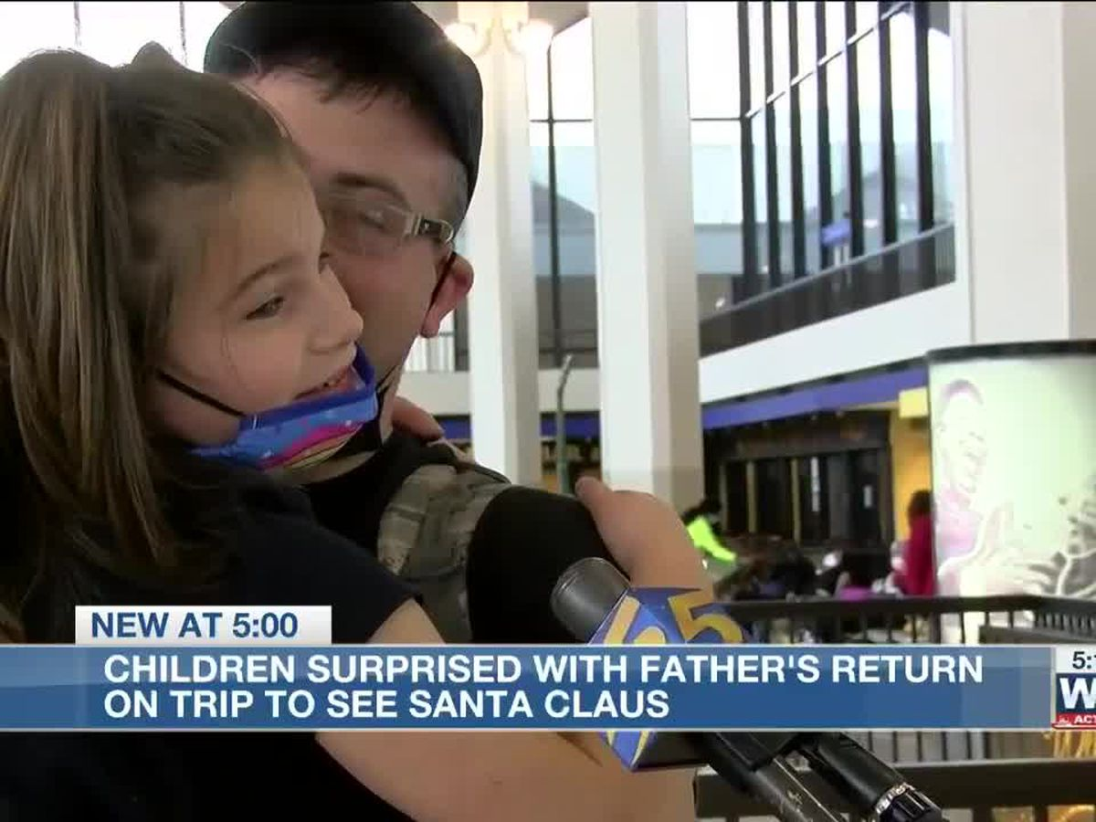 Home for the holidays: Airforce dad surprises his kids