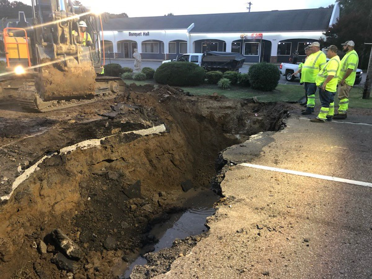Part of Highway 51 shutdown after road collapse