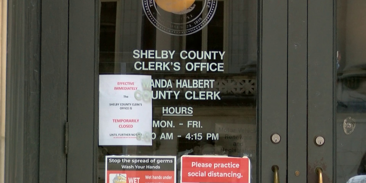 Shelby County Clerk's Office set to reopen next week with restrictions