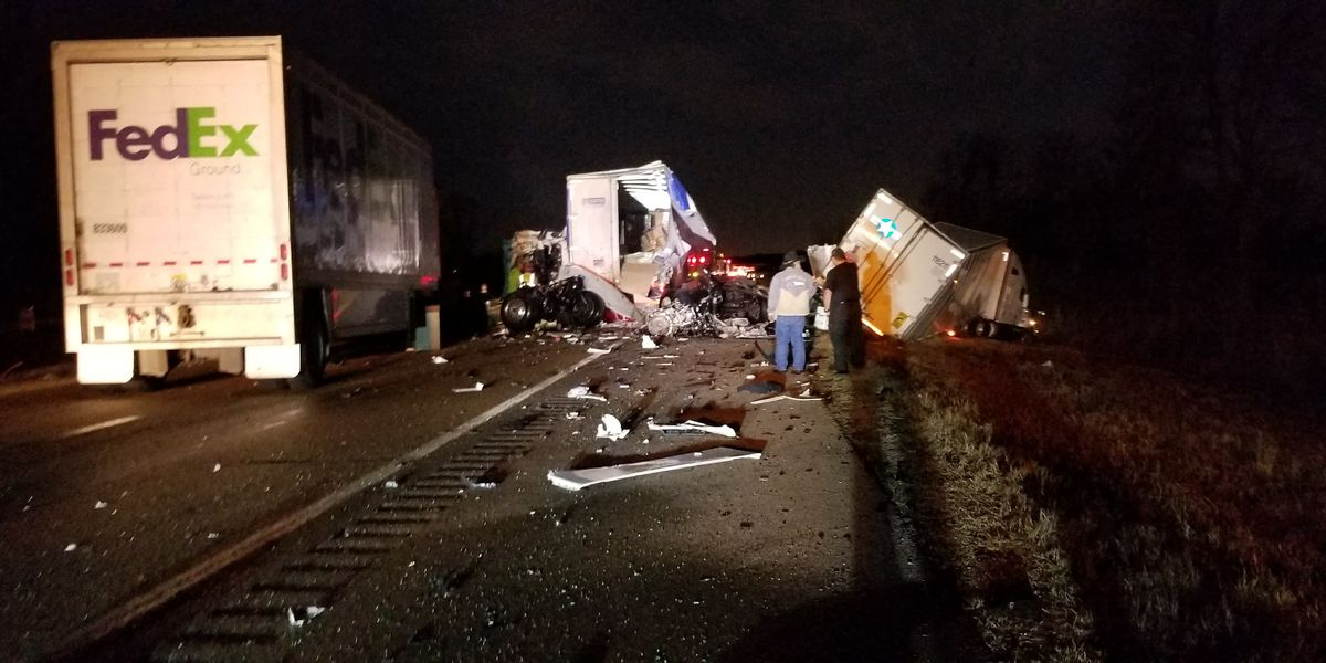 FedEx truck involved in multiple-car crash on I-40