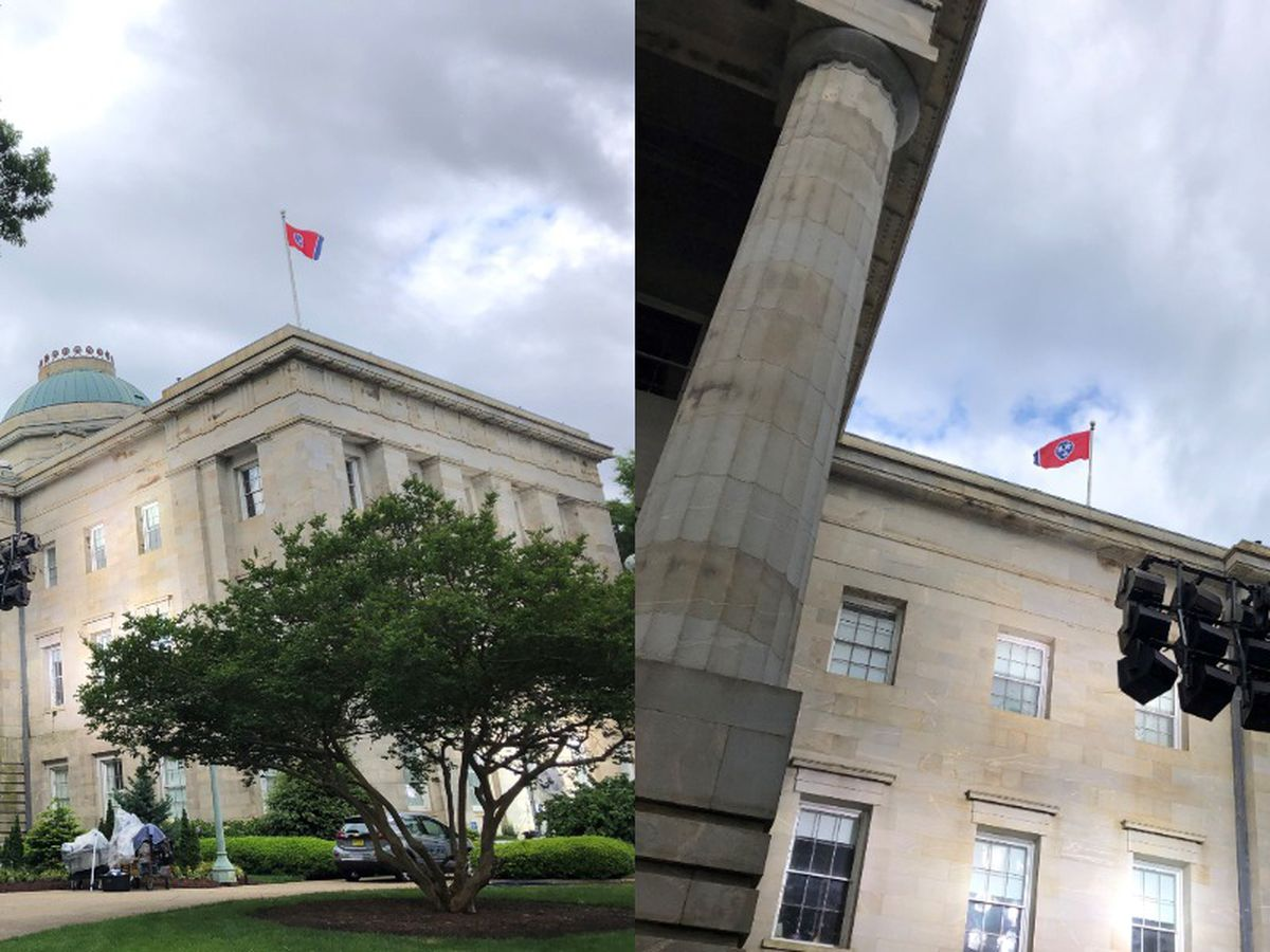 A Tennessee flag is flying above the N.C. capitol building - here's why