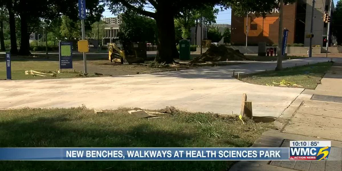 Improvements made to Health Sciences Park, but graves of Confederate general and wife remain