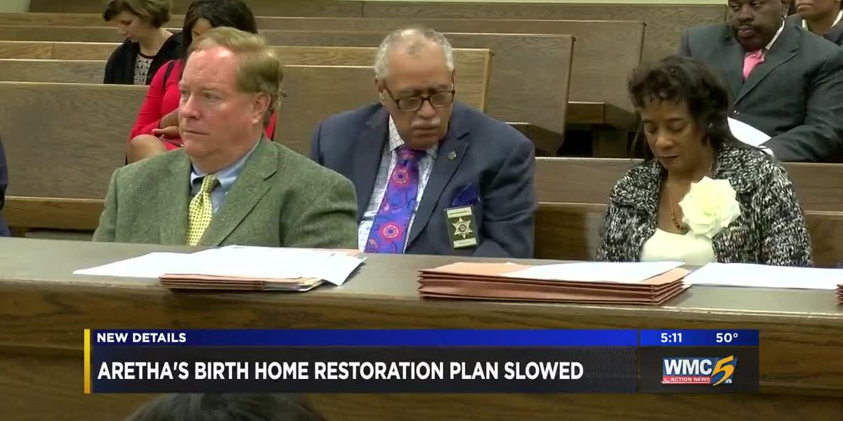 Aretha's birth home restoration plan slowed