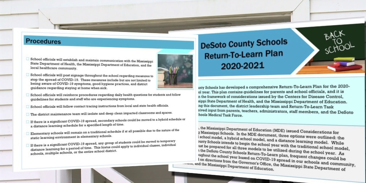Parents get first look at DeSoto County Schools' Return-To-Learn plan