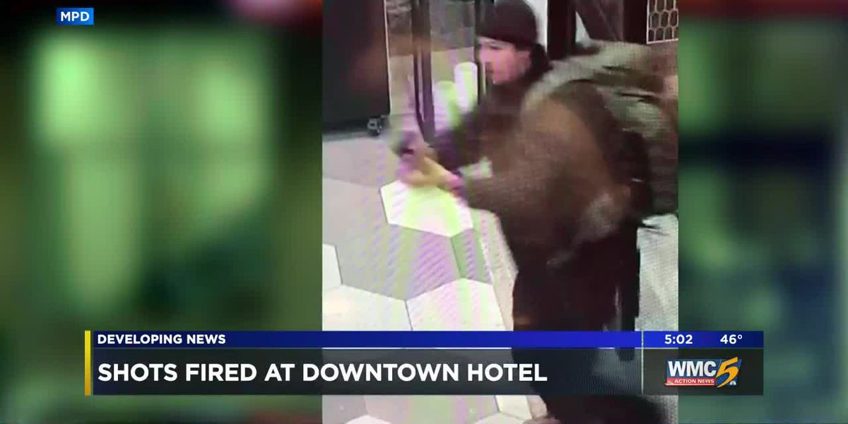 Shots fired at downtown hotel