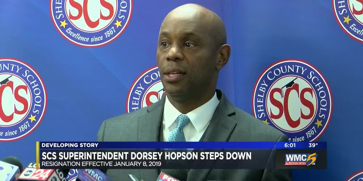SCS superintendent Dorsey Hopson steps down