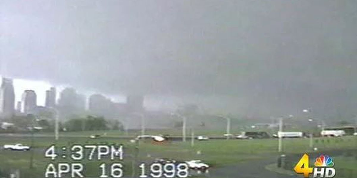 An F-3 tornado roared through Nashville 20 years ago today