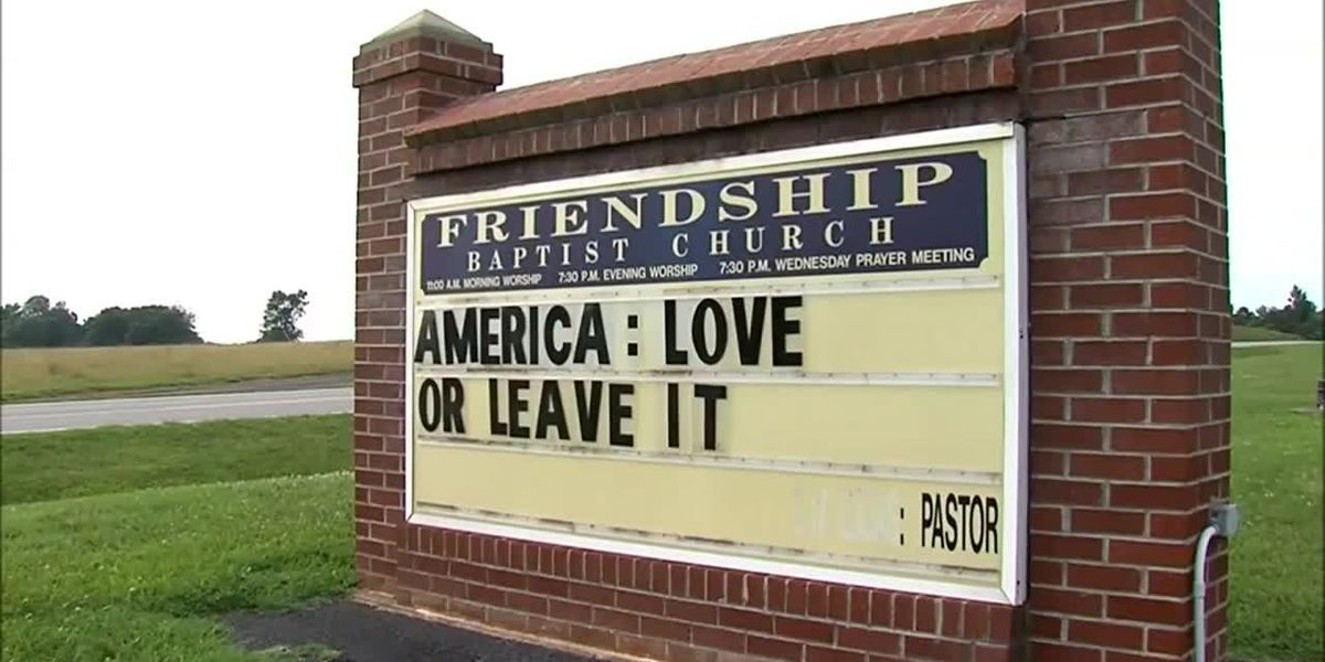 Church puts 'America: Love it or leave it' on sign in Va.