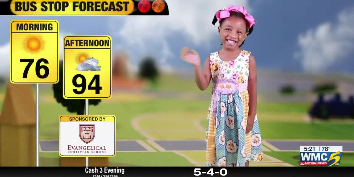 August 20, 2019 bus stop forecast