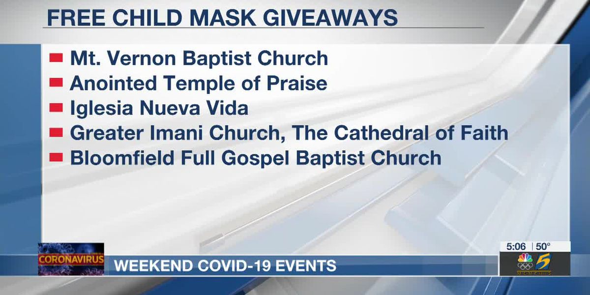 COVID-19 Vaccination, testing and mask giveaways all planned for this weekend