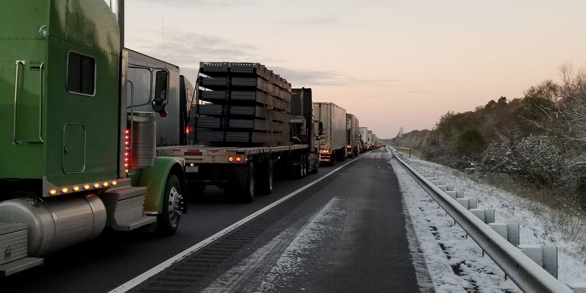 Drivers stranded overnight due to icy roads on I-40