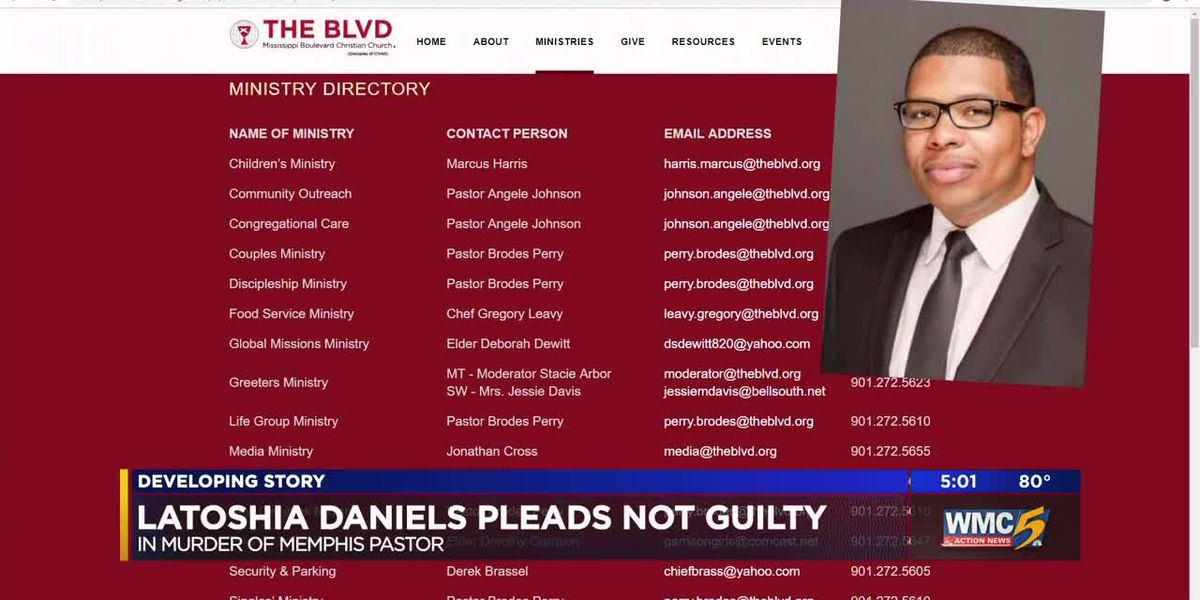 Court date reset for woman accused of killing Memphis pastor