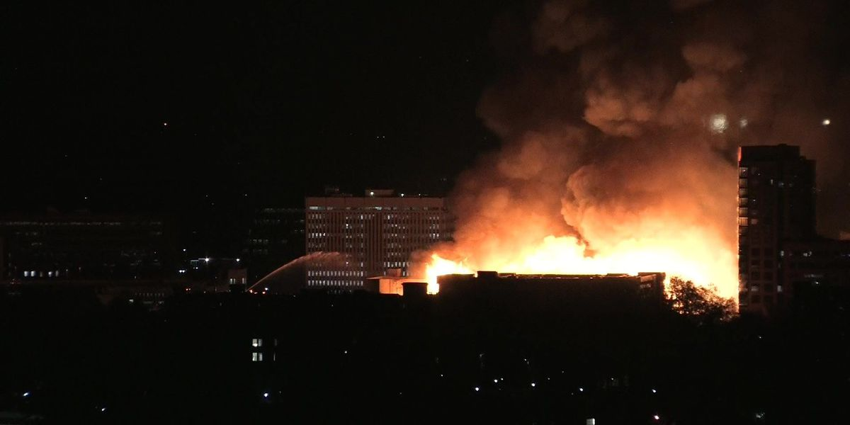 Large fire damages 9 buildings in Raleigh, NC