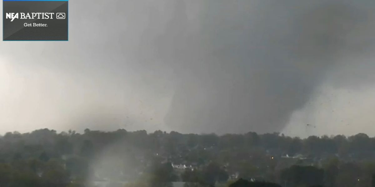 22 injured total, 2 hospitalized, no casualties from Jonesboro, Ark. tornado
