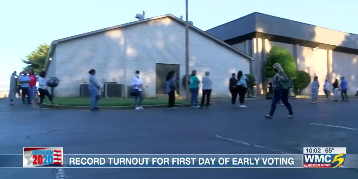 First day of early voting off to a historic start in Shelby County