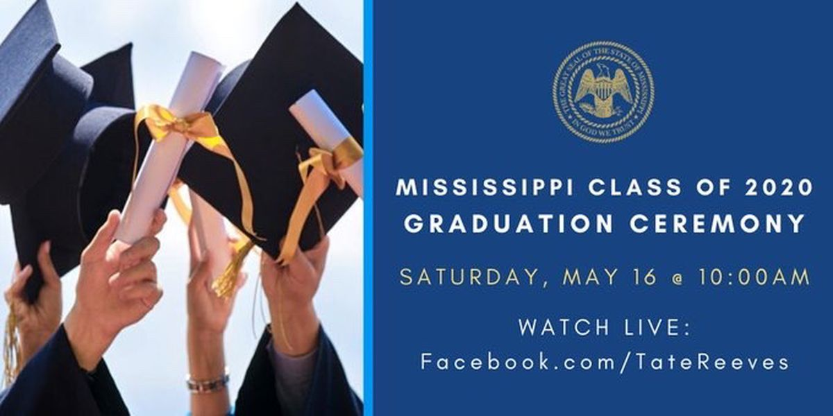 Gov. Reeves to host virtual graduation ceremony for Mississippi's Class of 2020