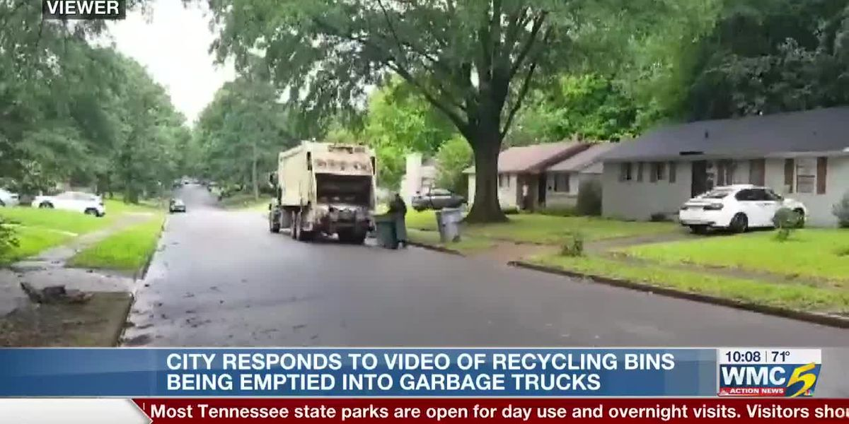 City responds to video of recycling bins being emptied into garbage trucks