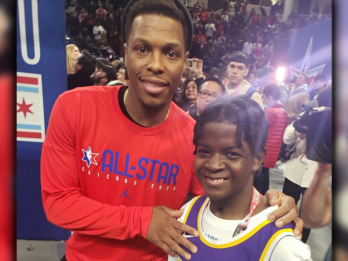 St. Jude patient meets players and coaches during NBA All Star Weekend
