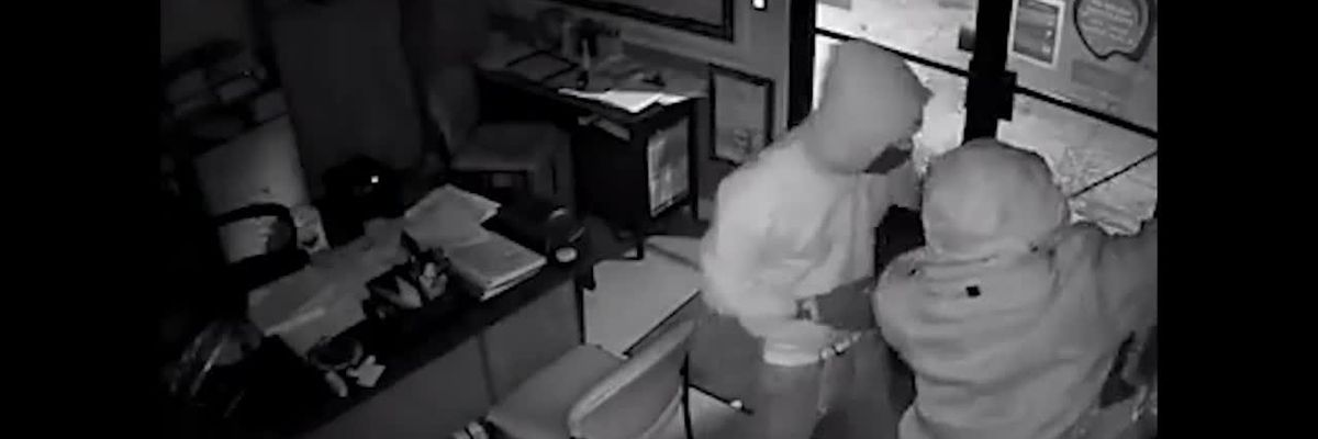 Burglary at LaPetite Academy caught on camera