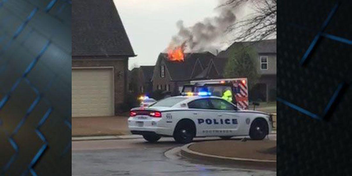 Residents: Lightning strike sparked house fire