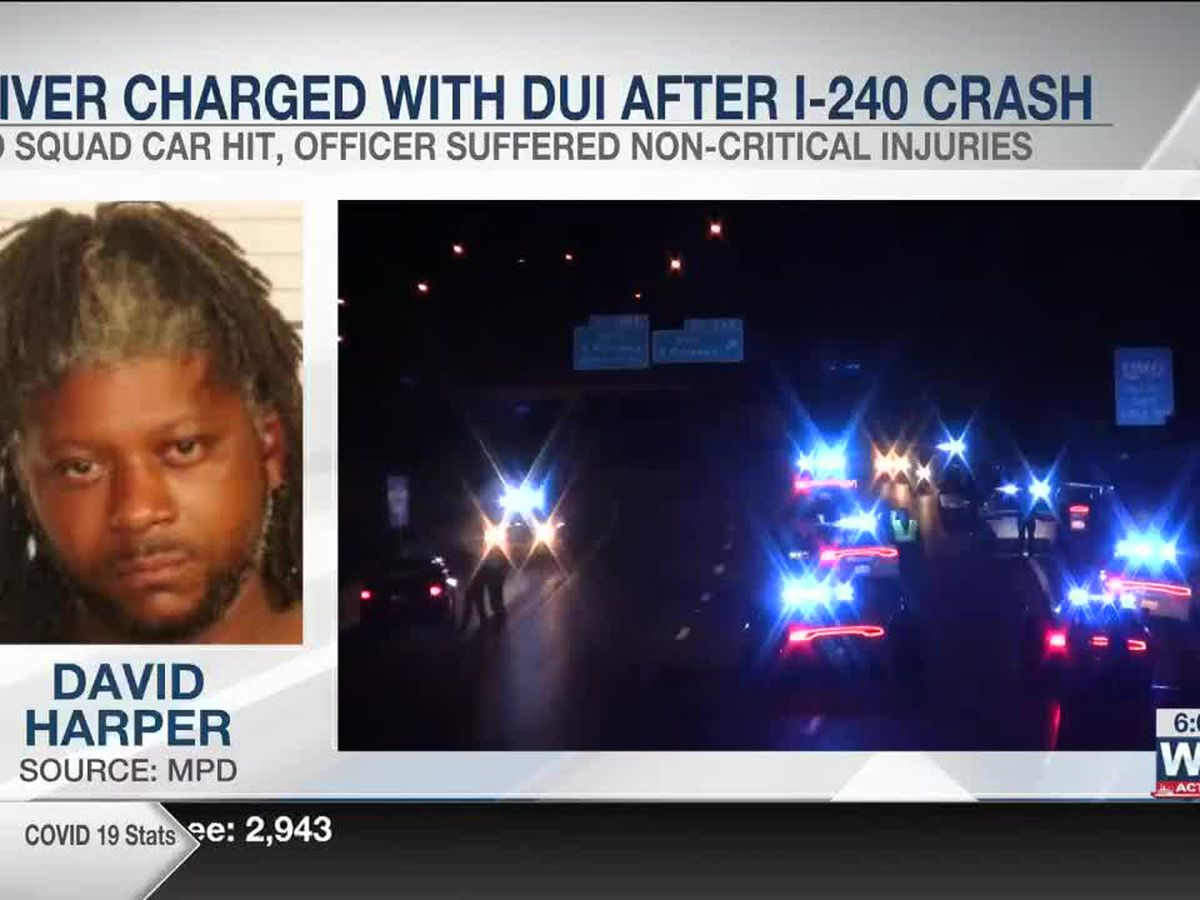 Driver charged with DUI after hitting MPD squad car on I-240