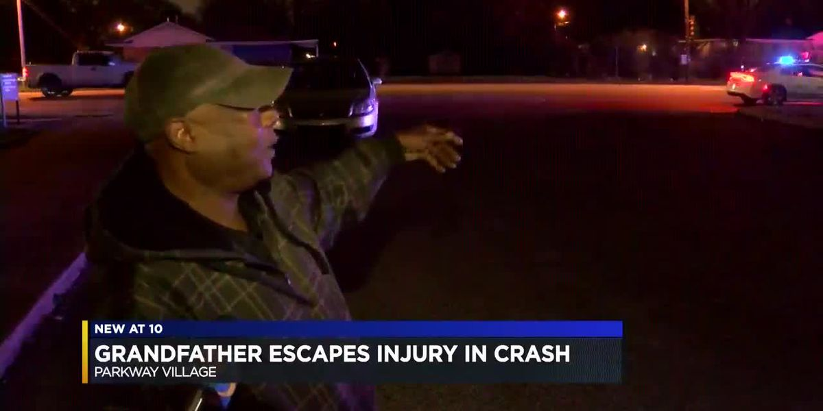 Grandfather, grandchildren unhurt after driver crashes into car belonging to late son