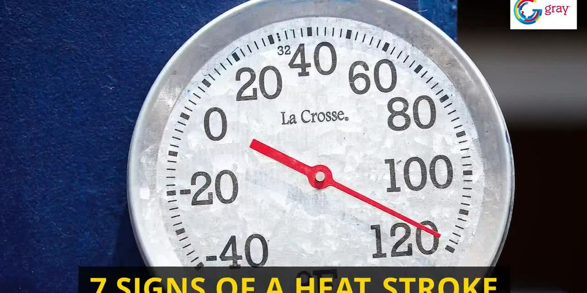 7 signs of a heat stroke
