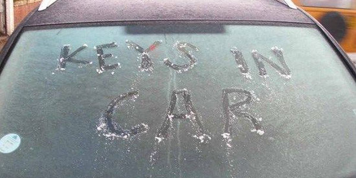 It's cold, but don't leave your car unattended