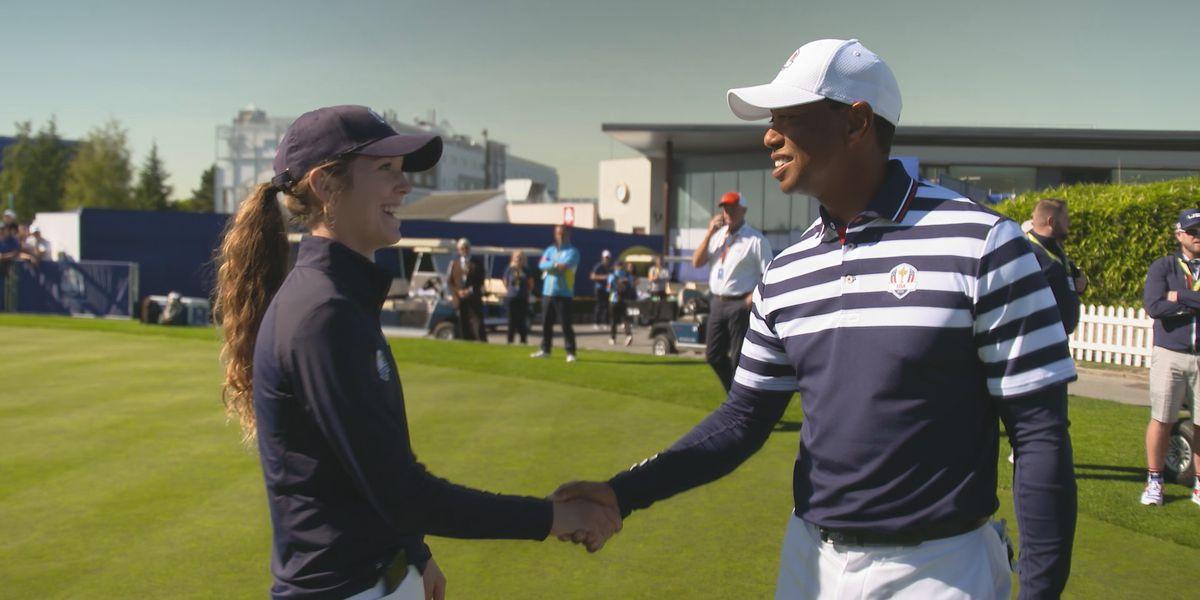Rachel Heck wins 2018 Jr. Ryder Cup, meets Tiger Woods