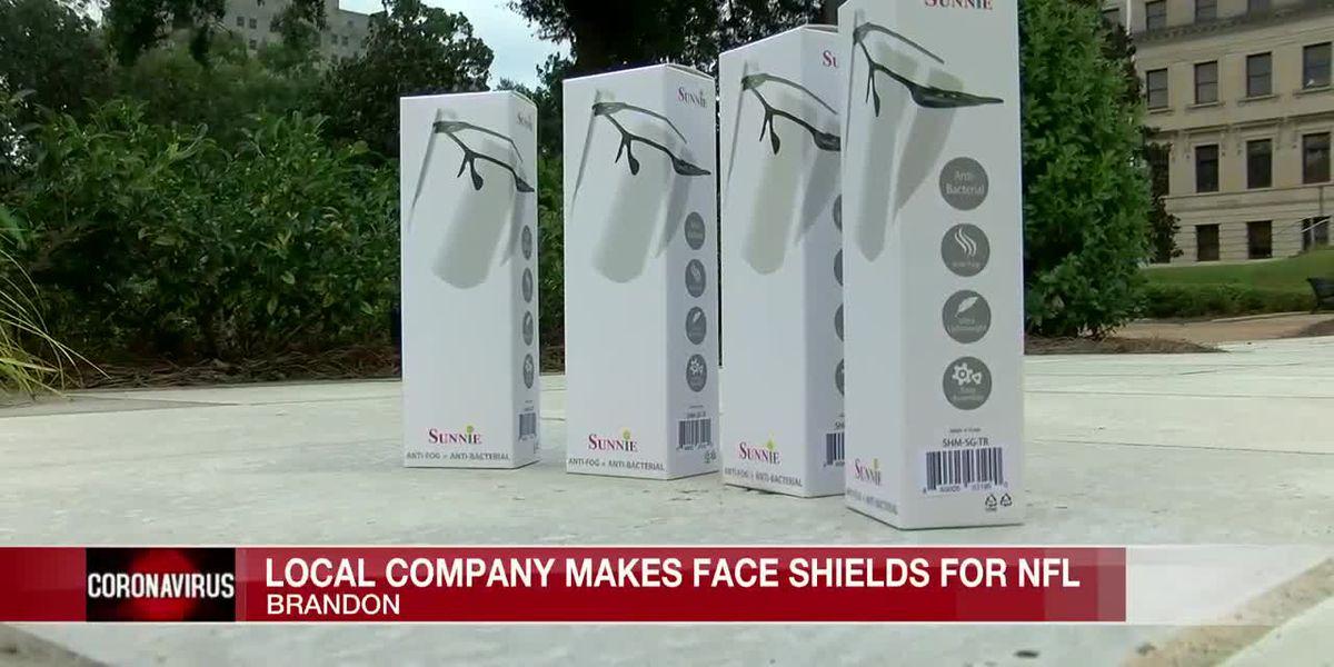 Brandon company creates face-shields for NFL teams