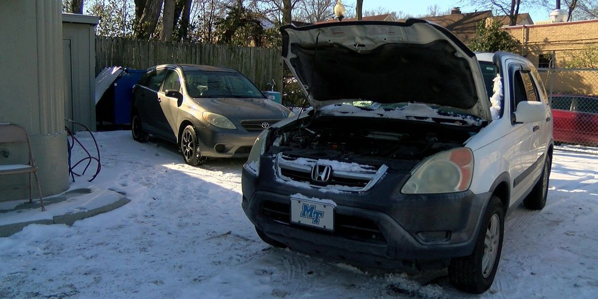 Freezing weather takes toll on cars