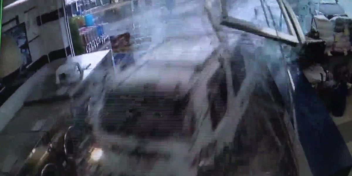 VIDEO: 6 injured when SUV drives through NY laundromat