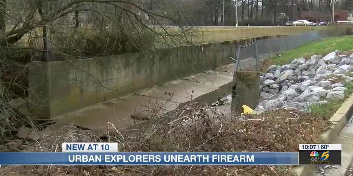 Youtube's Urban explorers unearth firearms in Memphis ditch