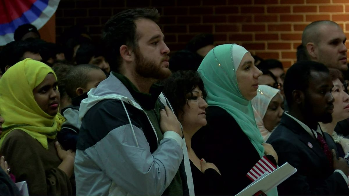 More than 300 people become U S  citizens at naturalization ceremony