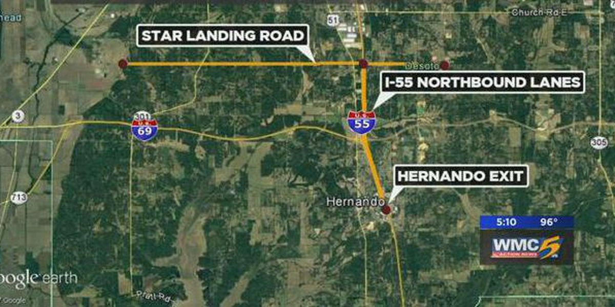 Weekend lane closures scheduled for I-55 in DeSoto County