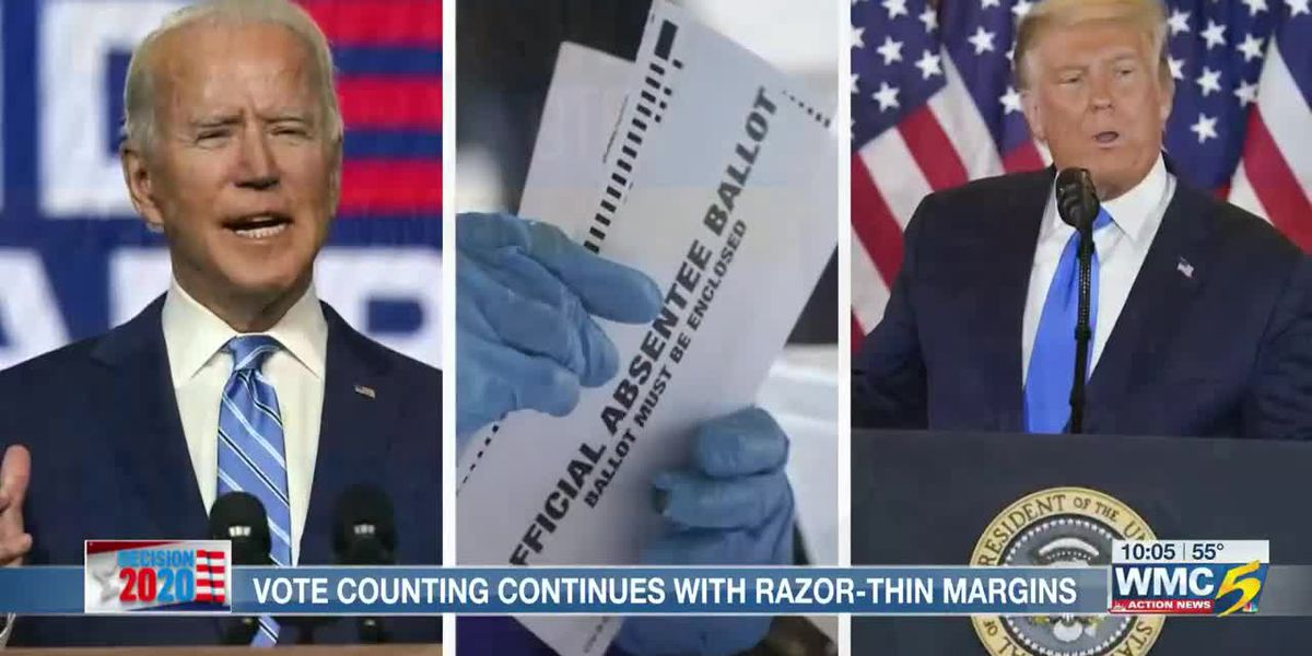 Vote counting continues with razor-thin margins