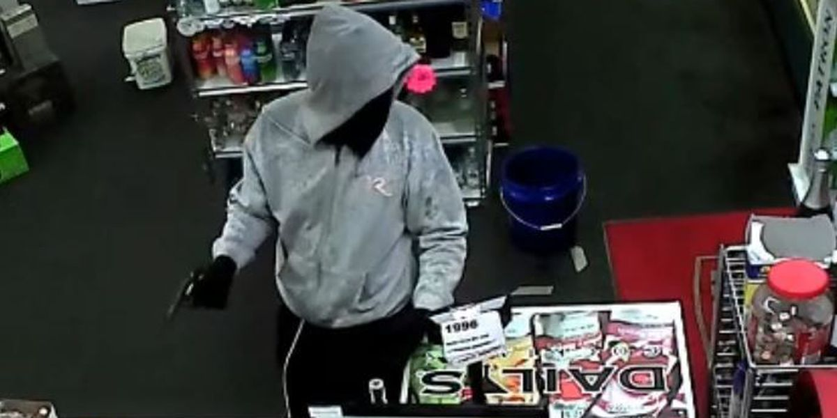 Man remains on the run after armed robbery of liquor store