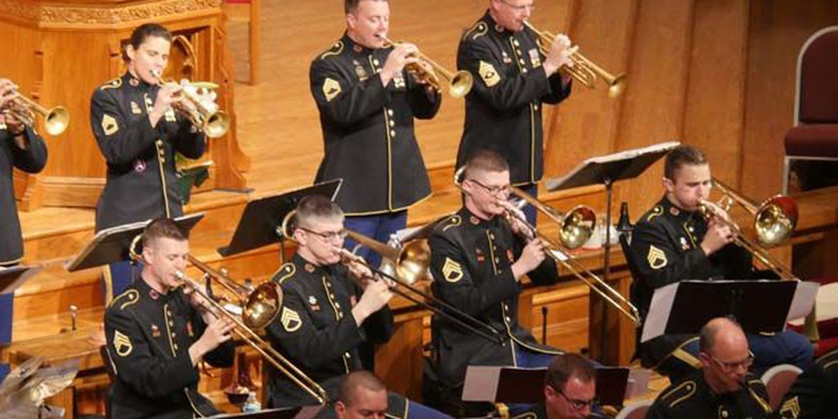 US Army Field Band play in Collierville with local students